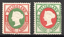 1875 Heligoland Germany (Red)