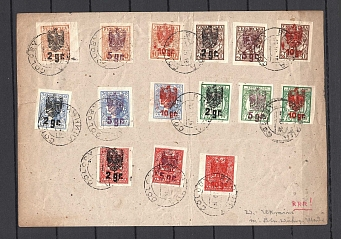 1918 Goloby Ukrainian Stamps with Polish Overprints, Full Sets