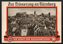 1935 Reich party rally of the NSDAP in Nuremberg, Albrecht Durer Memorial with the Imperial Castle