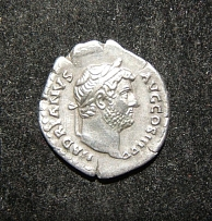 Roman Empire Hadrian ancient AR Denarius retrograde coin die var; RIC II 267/269