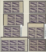 Soviet Union AIRSHIP (DIRIGIBLE) ISSUES: 1931-32, 330 mostly mint singles, pairs