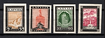 1933 Latvia Airmail (Imperforated, Full Set, CV $85, MH/MNH)