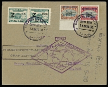 Bolivia May 14-June 6 1930, Zeppelin Return 1st SAF cover from La Paz to England