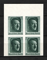 1937 Third Reich, Germany (Block of Four, Full Set, CV $80, MNH)