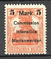 1920 Germany Joining of Marienwerder (Broken `5`)