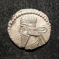 Ancient Eastern Parthian Kingdom Vologases III AR Drachm coin S-78.4 choice EF