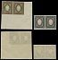 Imperial Russia,1919, 3.50r maroon & green, 7r green & pink, horiz varnish lines