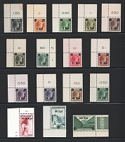 1940 Germany Occupation of Luxembourg (Corner Stamps with Control Numbers, Full Set, MNH)