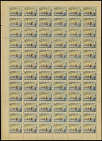Soviet Union Complete Sheets Air Post 1956, Station North Pole 6, sheet of 72