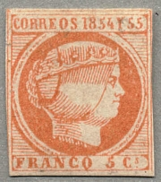 1855, 5 C., carmine, unused without gum, very fresh and good margins, VF!.
