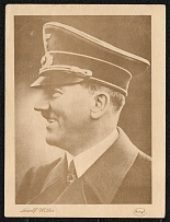 1939 Adolf Hitler Unmailed Photo Postcard