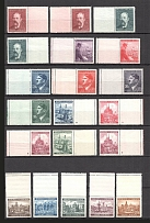 1939-43 Bohemia and Moravia Group of Stamps (2 Scans, MNH/MH)