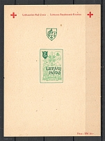 Lithuania Baltic Dispaced Persons Camp Augsburg Block Sheet (Imperf)