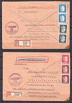 1942-43 Ukraine Reich Occupation 6 Censored Registered Covers