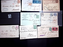 1856-1947, Attractive selection of 21 covers and cards comprising 1856 cover wit