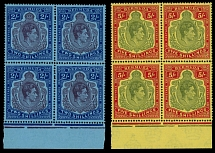 Bermuda, 1943, King George VI, 2s purple and deep blue