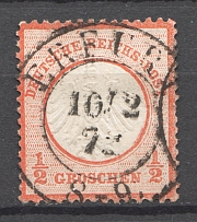 1872 Germany 1/2 Gr (CV $80, Cancelled)