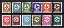 1942-44 Third Reich, Germany Official Stamps (Full Set, CV $60, MNH)