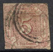 1859-61 Thurn und Taxis Germany 5 Gr (CV $390, Cancelled)