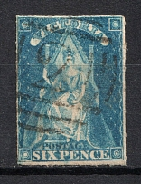 1858 6p Victoria, British Colonies (Canceled, CV £20)