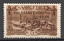 1935 Saarland Germany (Point between 'AA', CV $100)