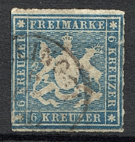 1865-67 Wurttemberg Germany (CV $80, Cancelled)
