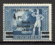 1945 Strausberg Germany Local Post 4 Pf