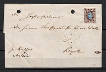 1858 10k (Sc. 2), Cover from Dorpat to Keriele, dotted and numeral cancellation '393'.