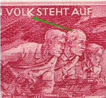 1945 Third Reich, Germany (Mi. 908 II, Dot under `k`, Print Error, Control Number `9`, Full Set, CV $110, MNH)