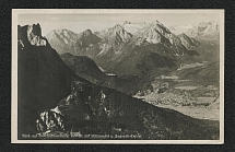 1936 View from mount of Mittenwald Photo Postcard