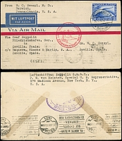 Germany-Zeppelin Flights May 18-19, 1930, First SAF cover to Seville