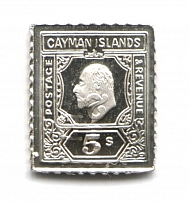 1907-08 Cayman Islands (Sterling Silver Miniature, Greatest Stamps of The World)