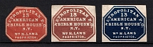 1852-53 Metropolitan New York Post Office, USA, Local (Signed)