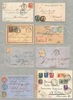1864-1975, very rich small box full of est. more than 200 letters or stationerie