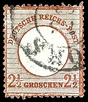 2 1/2 Gr. Bright brown, fresh stamp with brilliant colours in significant