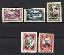 1932 Latvia (Imperforated, Full Set, CV $50, MNH/MH)