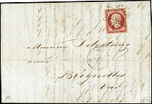 1853/61, Napoléon 1 fr. carmine in nice fresh colour and with good to large