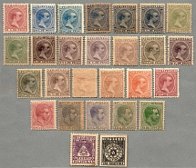 1880-94, lot of (27) stamps, (5) King Alfons XII, (20) King Alfons XIII, (1)
