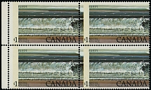Canada, 1979, Fundy National Park, $1, blk of 4, black inscription shifted