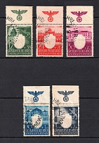 1943 General Government, Germany (Eagle on the Field, Full Set, Canceled)