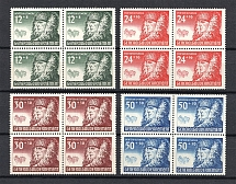 1940 General Government, Germany (Blocks of Four, Full Set, CV $40, MNH)