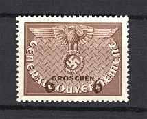 1940 Germany General Government Official Stamp 6 Gr (Shifted Value, Print Error)