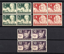 1940 General Government, Germany (Blocks of Four, Full Set, CV $50, MNH)