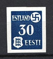 1941 30pf Occupation of Estonia, Germany (Mi. 3yU, IMPERFORATED, CV $200, MNH)