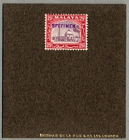 1935, 25 c., overprint SPECIMEN in violet (Samuel D15), this type of handstamp
