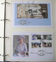 Collections/Mixed Lots 2000 Queen Mother 100th Birthday album of 71 um sets/MS/F