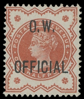 Great Britain OFFICIAL STAMPS -OFFICE OF WORKS: 1896, Queen Victoria, black ovpt