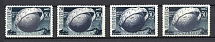1949 50k 75th Anniversary of UPU, Soviet Union USSR (Different Types of `O`, Displaced Planet, MNH/MH)