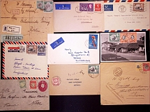 1903-60, Selection of 50 covers and cards, noted G.E.A overprint frankings, Key-