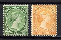 1891-1902 Falkland Islands, British Colonies (CV £70)